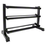 Compact dumbbell stand 3 steps, 119x50x76 cm