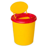 Needle disposal box 1,5 l, Multi-Safe quick S, oval opening, ø 107x162 mm