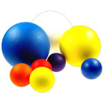 Foam ball coated, Ø 18 cm, blue