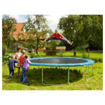 Garden trampoline fun 37 set, trampoline Ø 3.7 m incl. safety net