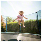 Garden trampoline fun 43 set, trampoline Ø 4.3 m incl. safety net