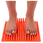 GYMNIC foot massage mat Bene-Feet Mat, 2-pcs., 23x28x4 cm