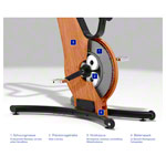 NOHrD bike ergometer cherry wood