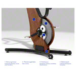 NOHrD bike ergometer walnut
