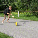 Wheel catching game incl. 2 catchers + 1 wheel