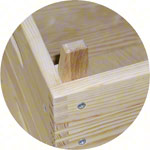 Vaulting boxes, LxWxH 70x50x40 cm, 3-piece.