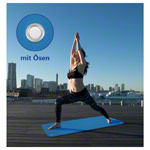 Pilates and yoga mat incl. eyelets, LxWxH 140x60x0.6 cm, blue