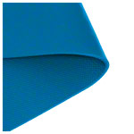 Pilates and yoga mat, LxWxH 180x60x0.6 cm, blue