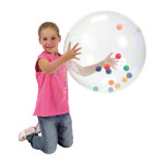 Activity ball with colourful balls, Ø 50 cm