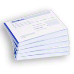Receipt book, 5 blocks of 100 sheets (500 sheets), DIN A6 landscape