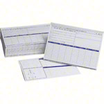 Card index set, 202-pcs., made of wood max. 900 cards (A5) incl. 200 flashcards & register,