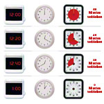 Time Timer Table Clock with acoustic signal, medium, 18x18 cm