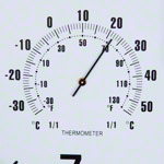 Wall clock with hygrometer and thermometer, Ø 35 cm