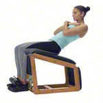 NOHrD Abdominal and Back Trainer Triatrainer, Club-Sport, pleather