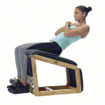 NOHrD Abdominal and Back Trainer Triatrainer, oak, pleather