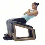 NOHrD Abdominal and Back Trainer Triatrainer, nut tree, pleather