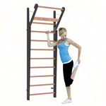 NOHrD Wall bars Club-Sport, foldout, HxWxD 230x80x13 cm, 10 bars