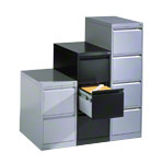 Suspension filing cabinet with 4 drawers, LxWxH 135.7x43,3x59 cm, single lane