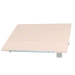 Reference edge for sit-stand work table, 56x0.5 cm