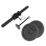 Forearm trainer incl. 2 weight plates made of cast iron, each 2.5 kg