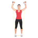 Fitness tube, lightweight, yellow