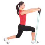 Fitness Tube, medium, green, set of 10