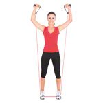 Fitness tube, thick, red, set of 10