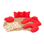 Cherry stone neck cushion exclusive 42x36 cm