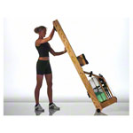 WaterRower rowing machine ash, incl. S4 Monitor, heart rate receiver, chest strap POLAR T31 and floor mat, set 4-pcs.