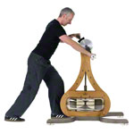 NOHrD WaterGrinder upper torso exerciser oak
