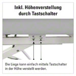 HWK Therapy table Impulse Lymph / Manu Electric, with 3 pcs. Kopft. 195x65x50-96 cm