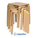 Stool 30 made of shaped wood, 27x27 cm, seat height 30 cm