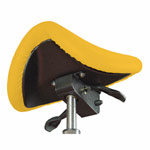 Saddle stool with cushion, exclusive with wheels