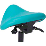 Saddle stool with cushion, standard with wheels