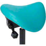 Saddle stool with cushion ,standard with glides