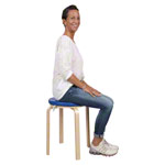Gymnastics stool with wood seat and seat cushion with pleather case, set 2-pcs.