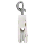 Deflection pulley with carabiner