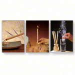 Ear candles traditional, honey-sage chamomile, 1 pair