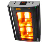 Halogen infrared heater IRS 2, ceiling model for ceilings from 2,49 - 2,53 m height