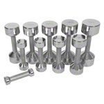 Dumbbell stand set with 10 pairs of chrome dumbbells, 1-10 kg, LxWxH 74x62x128 cm