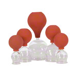 Suction cups with ball Ø 2,5-6,5 cm, set of 5