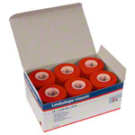 Leukotape Classic, 10 m x 3.75 cm, red, 12 pieces