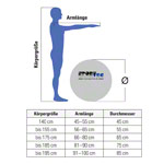 ARTZT vitality fitness ball Professional, Ø 45 cm, yellow