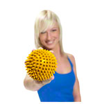ARTZT vitality massage ball, Ø 8 cm, yellow, 2 pieces