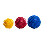 ARTZT vitality massage ball, Ø 9 cm, red, 2 pieces