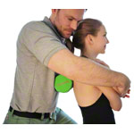 Covemo backbone mobilization HEALTHFIT, women, ø 12x24 cm, green
