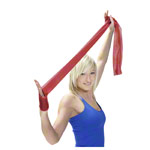 ARTZT vitality latex-free exercise band, 2.5 m x 11.5 cm, medium, red