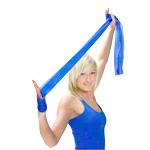 ARTZT vitality latex-free exercise band, 2.5 m x 12 cm, extra thick, blue