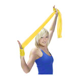 ARTZT vitality latex-free exercise band, 2.5 x 8 cm, lightweight, yellow