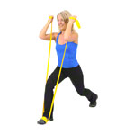 ARTZT vitality latex-free exercise band, 25 x 8 cm, lightweight, yellow